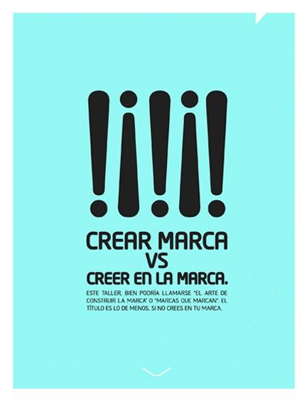 Taller 1: Crear marca vs Creer en la marca