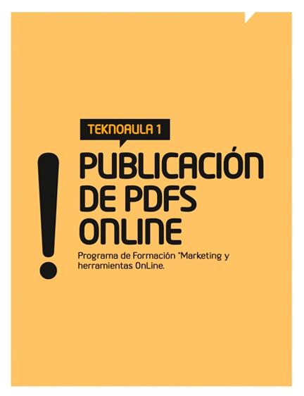 Teknoaula 1: Publicación de PDFs online